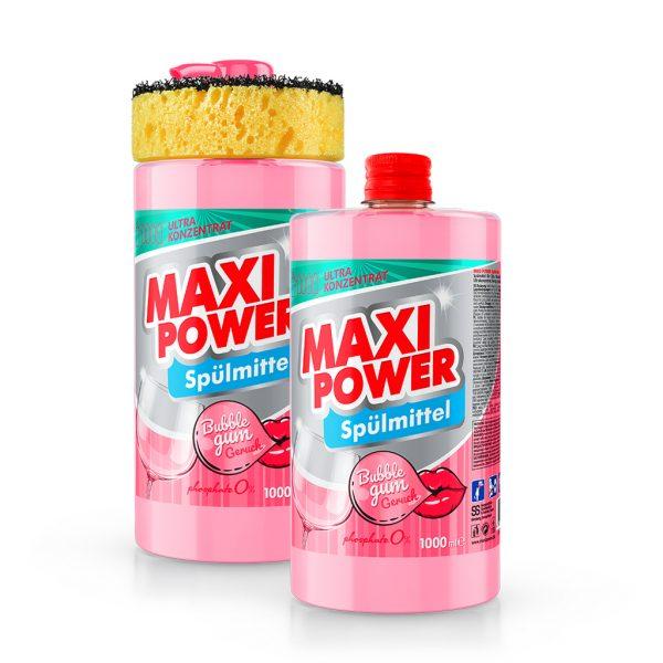 Dishwashing detergent Maxi Power - Bubble Gum